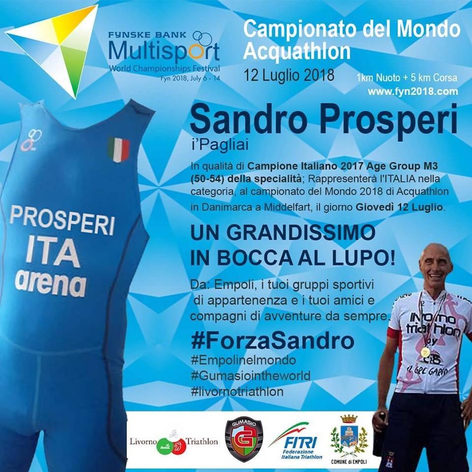 Sandro Prosperi ai mondiali di acquathlon!