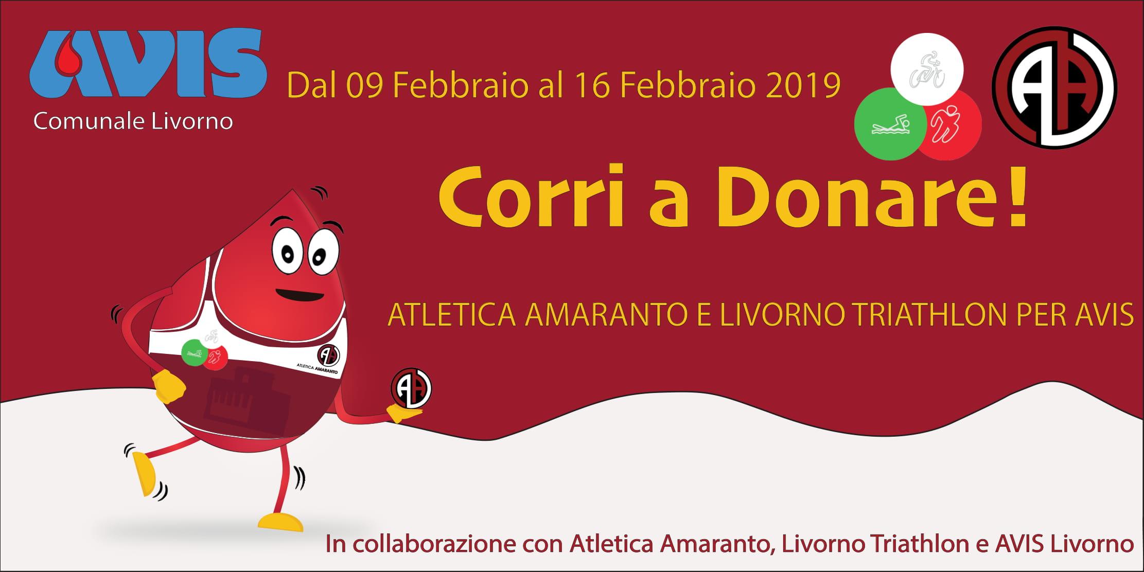 Corri a Donare con AVIS, Livorno Triathlon e Atletica Amaranto